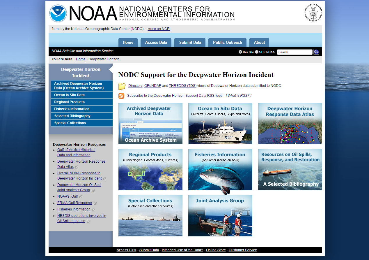 National Centers for Environmental Information Website